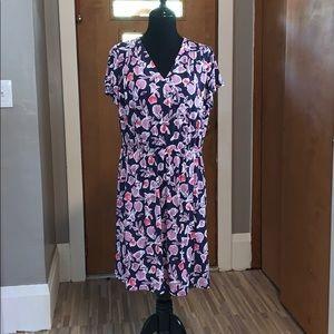 Lane Bryant short flutter sleeve floral dress!